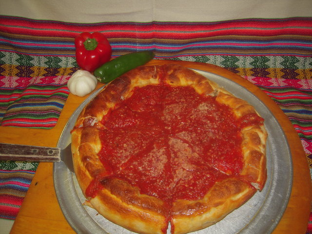 Chicago stuffed pizza - yum